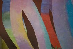 Colorful Abstract Shapes. Colorful painted abstract wooden shapes royalty free stock photos