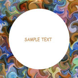 Colorful painted background with round frame for text Stock Image