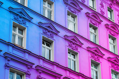 Colorful painted beautiful old building facade Stock Images