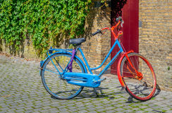 Colorful painted bicycle Royalty Free Stock Photography