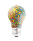 Colorful painted bulb isolated on white Stock Image