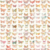 Colorful painted butterfly background pattern Stock Images
