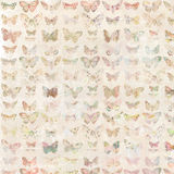 Colorful painted butterfly background pattern Stock Photos