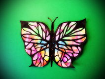 Colorful painted butterfly Royalty Free Stock Images