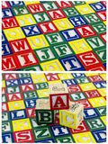 Background abc teaching child blocks. Colorful painted child development wood wooden school kindergarten learning teaching abc alphabet spelling words wallpaper Royalty Free Stock Images
