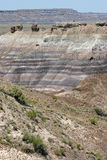 Colorful Painted Desert Rock Striations Stock Photo