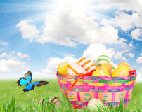 Colorful painted easter eggs Royalty Free Stock Photos
