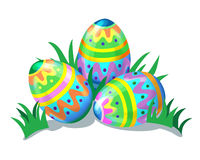 Colorful painted easter eggs. Illustration stock illustration