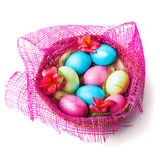 Colorful painted easter eggs Stock Image
