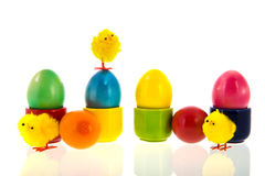Colorful painted easter eggs Royalty Free Stock Photo
