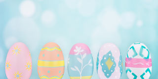 Colorful Painted Easter Eggs Royalty Free Stock Photography