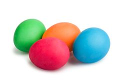Colorful painted Easter eggs on white background Stock Photo