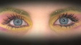 Colorful painted eyes Royalty Free Stock Photos