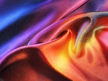 Colorful painted fabric abstract Royalty Free Stock Image