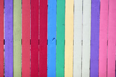 Colorful Painted Fence Royalty Free Stock Images