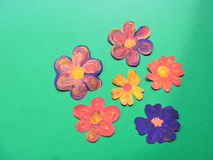Colorful painted flowers Stock Image