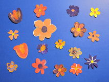 Colorful painted flowers pattern Royalty Free Stock Image