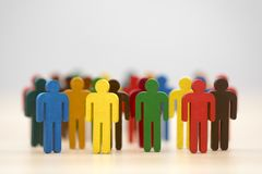 Colorful group of people figures Stock Image