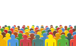 Colorful painted group of people figures Royalty Free Stock Photography