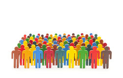 Colorful painted group of people figures Royalty Free Stock Photo