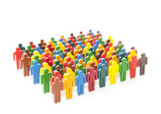 Colorful painted group of people figures Stock Image