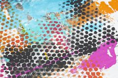 Colorful Painted Grunge Background stock photos