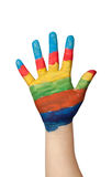 Colorful painted hand Royalty Free Stock Photo
