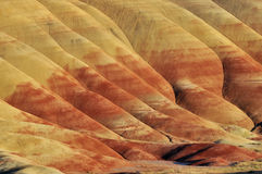 Colorful painted hills and layers of soil, Oregon Stock Images