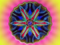 Colorful painted mandala Royalty Free Stock Photos