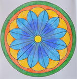 Colorful painted mandala Royalty Free Stock Images