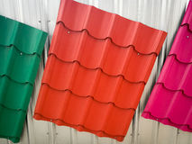 Colorful painted Metal roof Stock Images