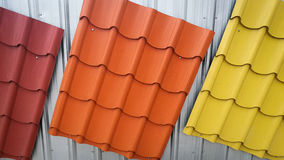 Colorful painted Metal roof Stock Image