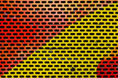 Colorful painted metal sheet perforated Royalty Free Stock Photo