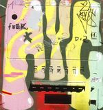 Condom vending machine. Colorful painted old Kondomat, condom vending machine Royalty Free Stock Photography