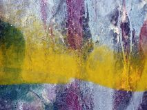 Painted old wall surface texture Stock Images