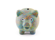 Colorful painted piggy bank Stock Photo
