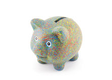 Colorful painted piggy bank Royalty Free Stock Image
