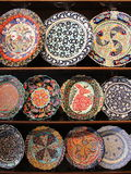 Colorful painted plates Royalty Free Stock Images