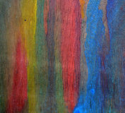 Colorful painted plywood art background Stock Images
