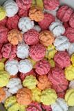 colorful painted roasted chickpeasi junk food royalty free stock photos