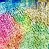 Colorful painted scratched background Royalty Free Stock Images