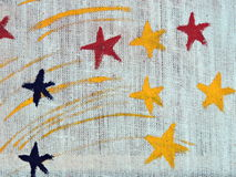 Colorful painted stars Royalty Free Stock Photography