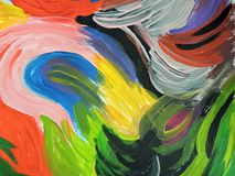 Colorful painted abstract can use as background Royalty Free Stock Images