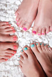 Colorful painted toes Stock Photography