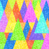 Colorful painted triangles superimposed Stock Photography