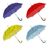 Colorful painted umbrellas Stock Image