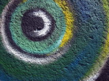 Colorful painted wall abstract Royalty Free Stock Image