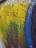 Colorful painted wall Stock Image
