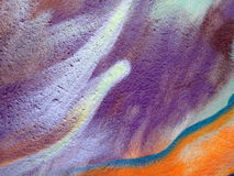 Colorful painted wall surface Stock Images