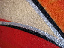 Colorful painted wall surface Royalty Free Stock Photo